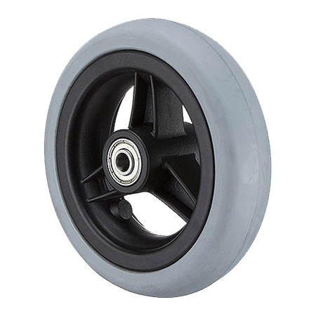 "5x1-1/4"" Wheel with Solid Rubber Tire GH0501R"