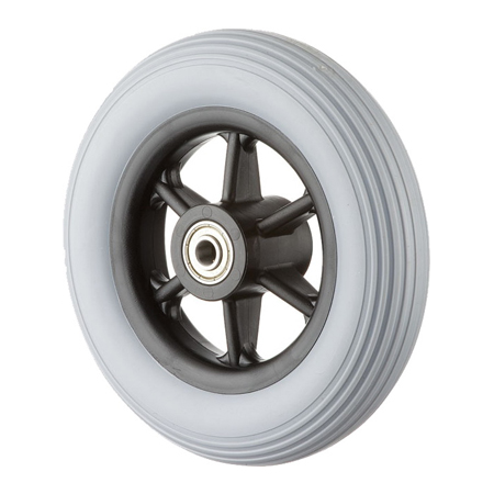 "6x1-1/4"" Wheel with Solid PU Tire GH0606"