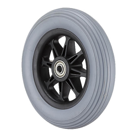 "6x1-1/4"" Wheel with Solid PU Tire GH0608"